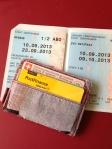 Ticket in unpraktischer Grösse